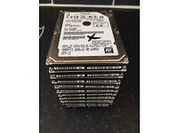 Job lot of 27 x faulty SATA laptop hard drives