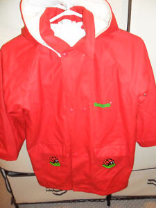 rainpets insulated red  rain /spring coats