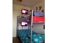 Metal frame bunk beds