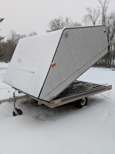 Aluminum Enclosed Snowmobile Trailer $2500 FIRM