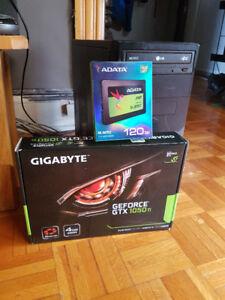 PC GAMER INTEL i7 (8 COEURS) + SSD + 1TB + GTX 1050Ti 4GB + JEUX
