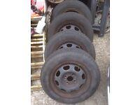 VW Polo set of 4 wheels & Tyres