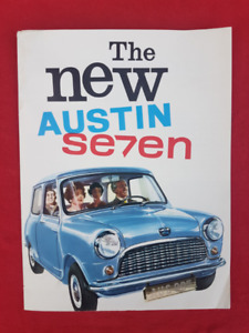 1960 1961 ? AUSTIN SEVEN MINI Vintage Dealer Sales Brochure ENG