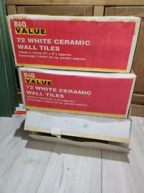 White ceramic tiles 15x15 cm/ 6x6 inch