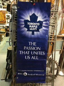 VINTAGE TORONTO MAPLE LEAFS VINYL BANNER THE PASSION THAT UNITES