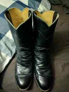 Justin Style Biker Boots Size 10 EEE