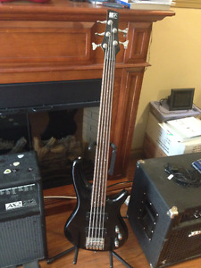 Ibanez SDGR 5string bass Modified