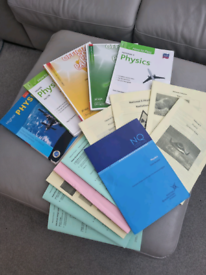 Physics past papers and work books