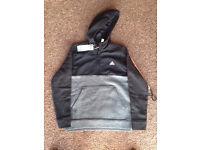 Boys grey and black Adidas hoodie aged 13-14 BNWT