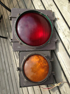 Vintage GE Railway Traffic Signal Red/Yellow 80+Year Old Unique