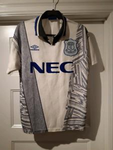 EVERTON FC NEC UMBRO AWAY JERSEY 1994-1995 MEDIUM