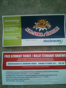 TRADE: 2 student Wild Cats tickets for 1 Adult ticket (Feb 25)
