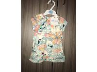 M&S Indigo Collection 9-12 months girls top