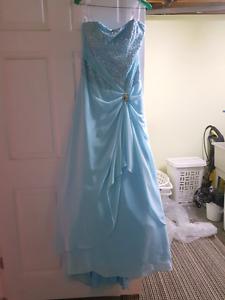 Blue grad dress size 10