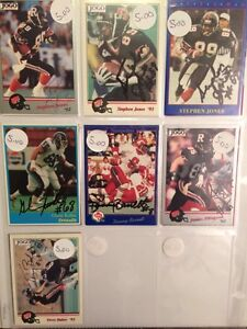 Lot of 7 CFL JOGO AUTOGRAPHED FOOTBALL CARDS, JONES + OTHERS