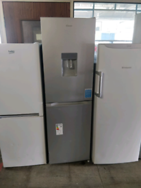 SILVER CANDY 6.2FT TALL FRIDGE FREEZER FROST FREE