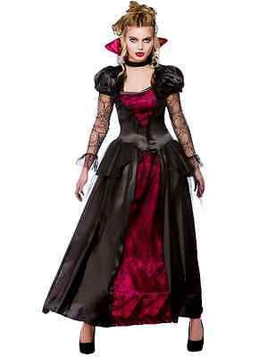 Deluxe Vampire Queen 6-28 Ladies Halloween Fancy Dress Womens Vampiress Costume - 28 Halloween Costumes