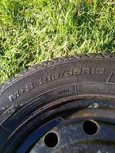 Snow tires with rims - Goodyear Ultra Grip 215/65R16 Cambridge Kitchener Area image 1