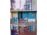 Dolls house and Barbie dolls bundle