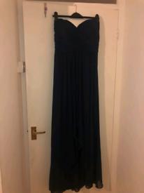 New Navy Blue Evening Maxi Dress