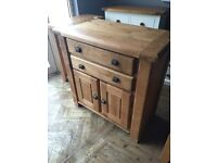 ***Ex-display/seconds*** Solid oak 2 door 2 drawer small sideboard --- ONLY £200 --- CALL TODAY!!!