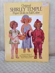 AUTHENTIC Shirley Temple Paper Dolls/CutOuts circa 1988