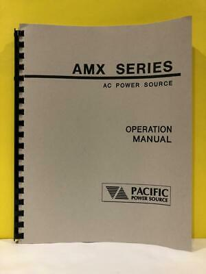 Pacific 139250 Amx Series Ac Power Source Operation Manual