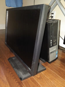Dell OptiPlex 9010 SLIM FORM FACTOR with monitor and base