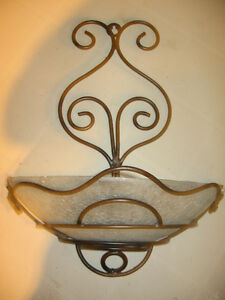 Glass and Metal Wall Candle Sconce Edmonton Edmonton Area image 1