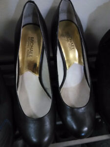 reduced authentic Michael Kors leather black heels