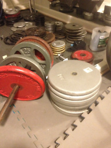 Steel Weight Plates - 50lb and 25lb