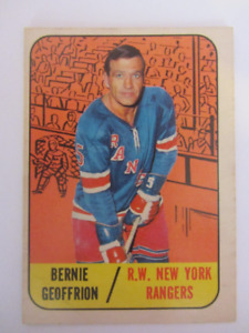 14 TOPPS hockey cards 1967-68 Geoffrion, Gilbert, Keon