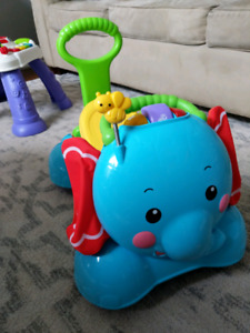 Fisher price ride walk bounce elephant