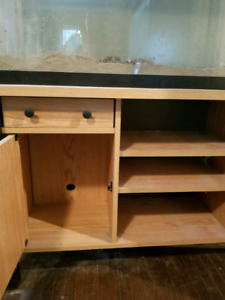 Reptile tank, stand and accessories.