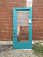 FREE EXTERIOR DOOR WITH WINDOW