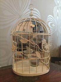 Hanging tea light birdcage