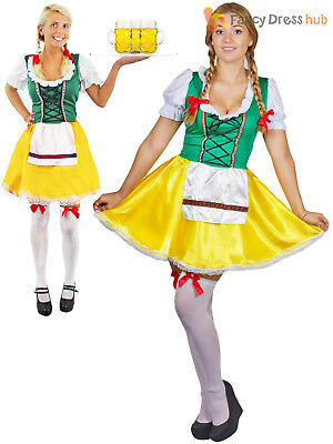 Ladies Oktoberfest Costume Adults Bavarian Fancy Dress German Beer Girl Outfit - German Girl Outfits