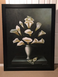 Large original painting -Calla Lily's