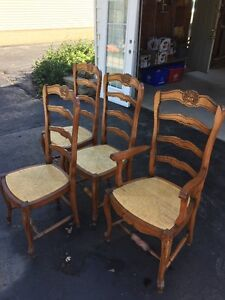 4 Solid wood dining room chairs