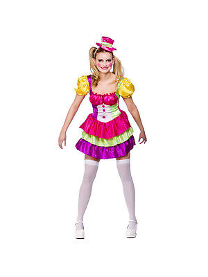 Womens Clown Outfit (Adult Cute Clown Outfit Fancy Dress Costume Circus Carnival Ladies Womens)