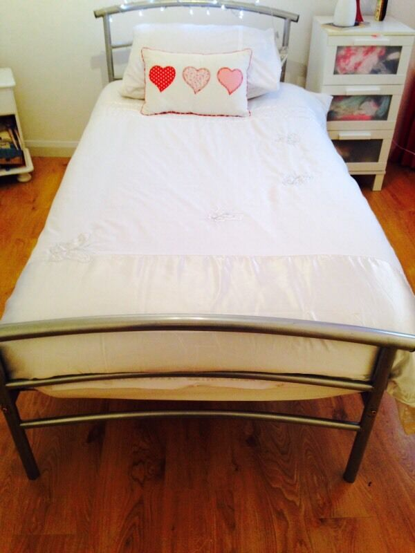 Gumtree Electric Adjustable Beds : Silver single bed frame in east end glasgow gumtree