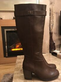 Next Long Boots chocolate brown