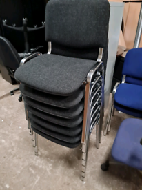 Charcoal grey stackable chairs 5 available
