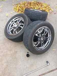 5x114.3 17 Chrome FAST rims and tires