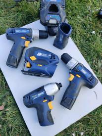 10.8v drills impact and jigsaw.