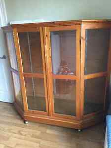 Display cabinet with 2 glass shelves