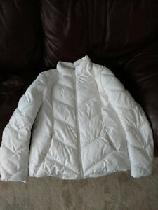FALL WOMEN'S MED WHITE QUILTED PUFFER JACKET COAT