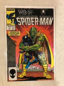 Web of Spider-Man # 25 Apr 1987 Marvel Beware Stalker From Stars