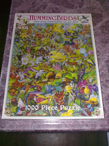 1000 piece hummingbird puzzle - new, still in wrapping