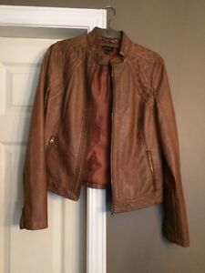 Lord and Taylor Fitted Faux Leather Jacket New Kitchener / Waterloo Kitchener Area image 2